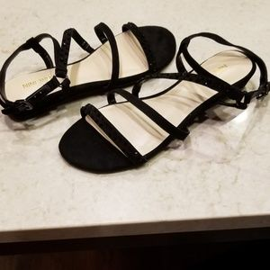 🌴 NINE WEST LEATHER STRAPPY SANDALS NWIT